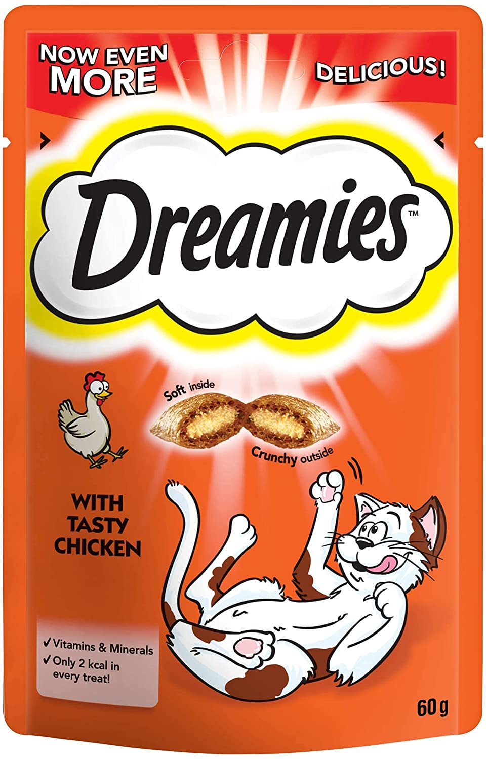 Dreamies Chicken Cat Treats 60g, Cat Food by Dog In A Box