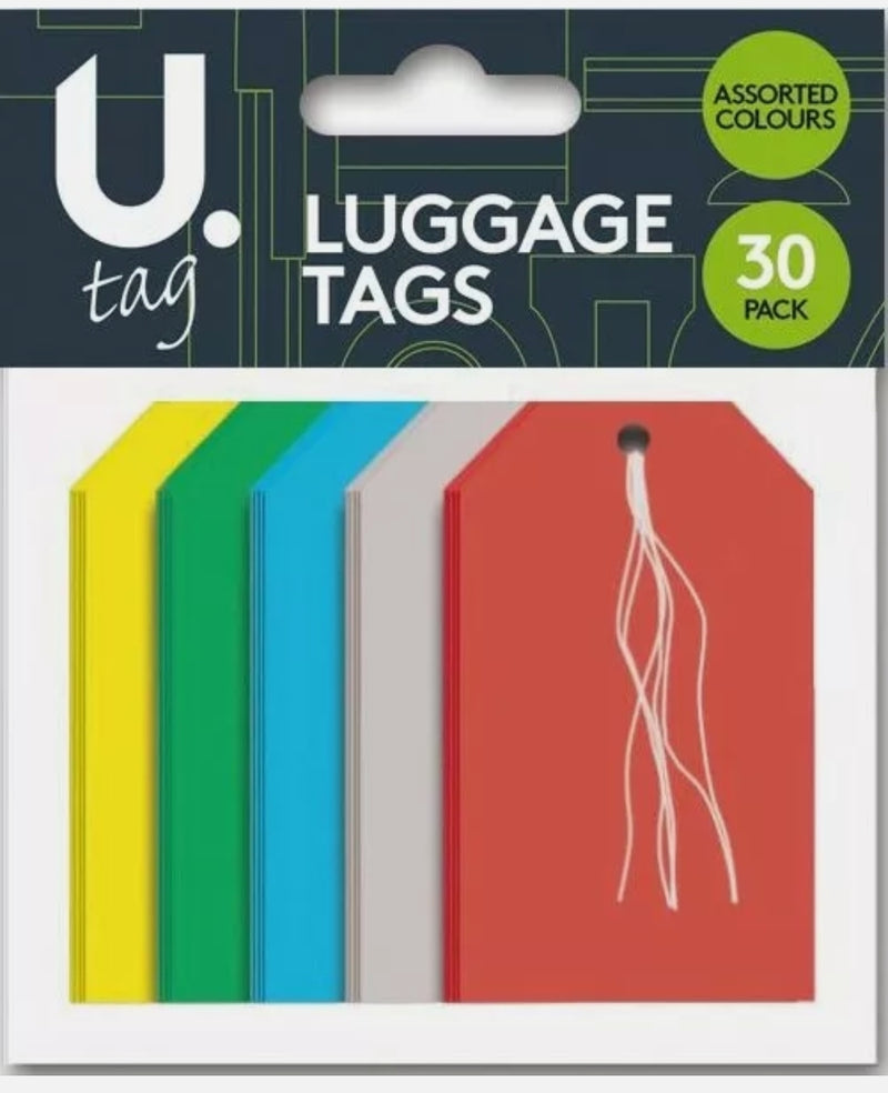 30pk Luggage Tags