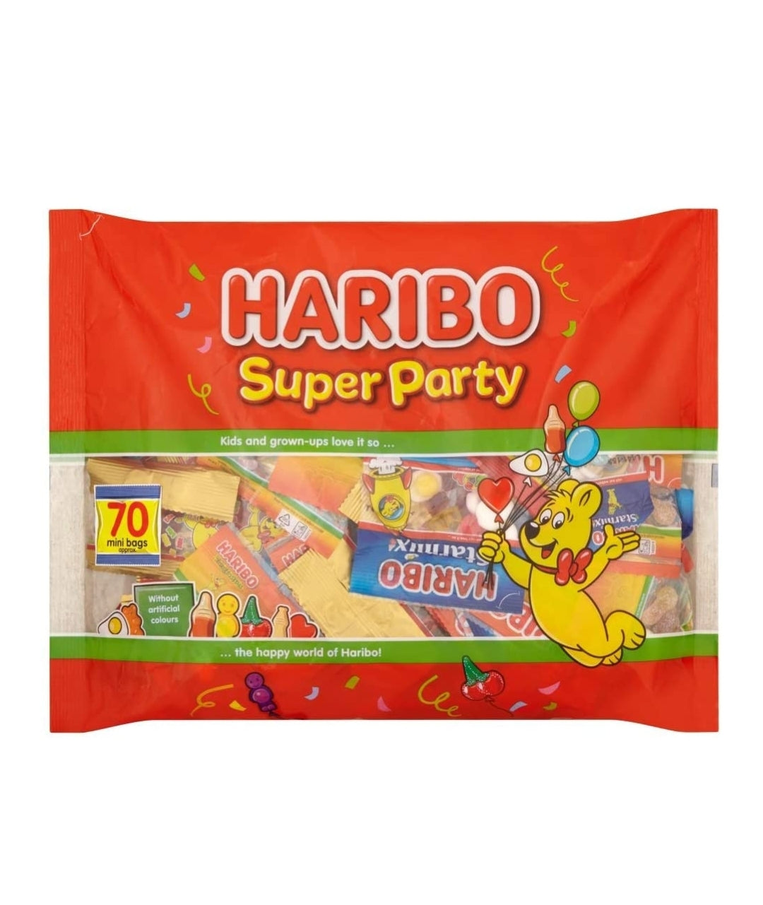 Haribo Super Party Mix - 70 Mini Bags, Food Items by Dog In A Box