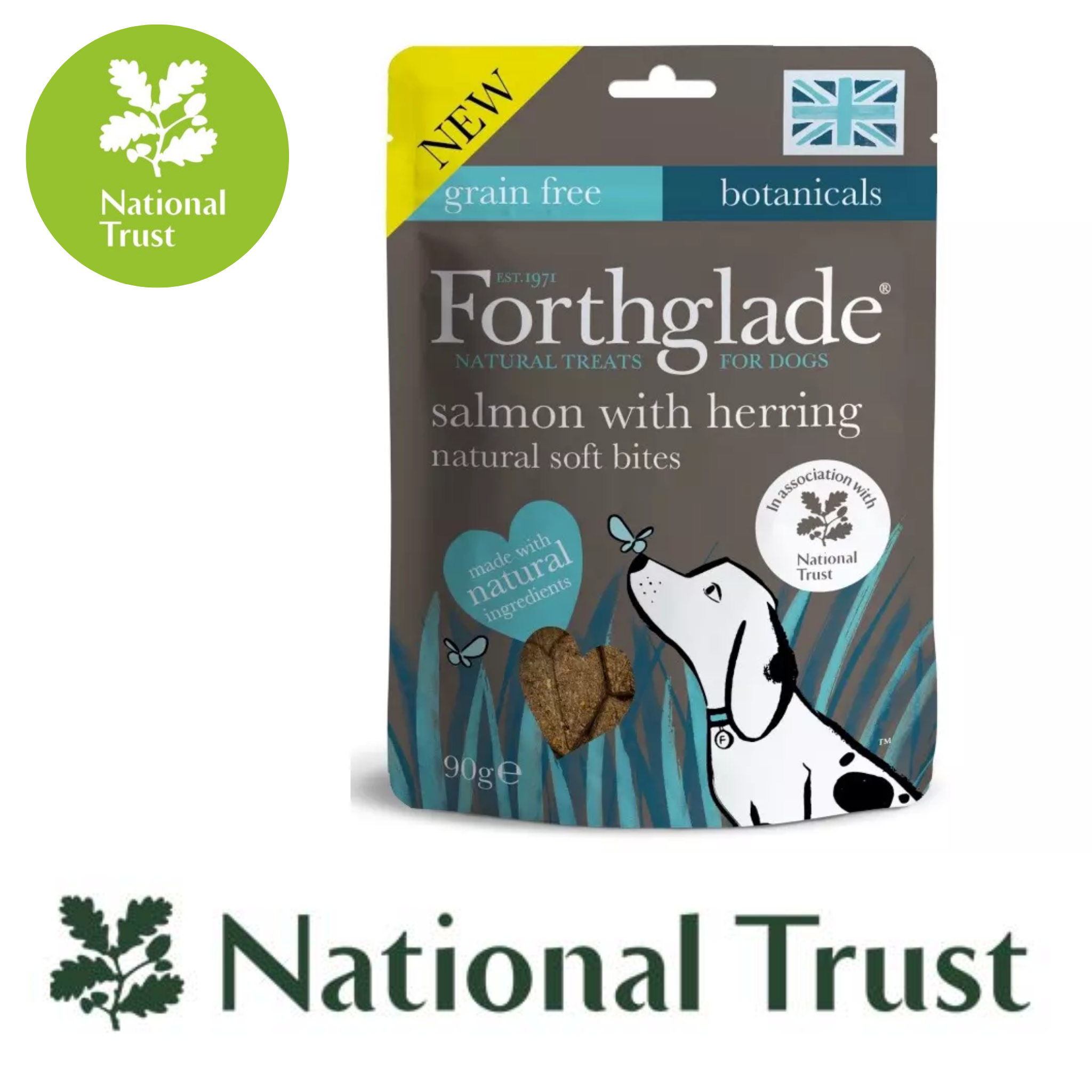 National Trust Forthglade Salmon & Herring Gourmet Dog Treats - 90g, Dog Treats by Dog In A Box