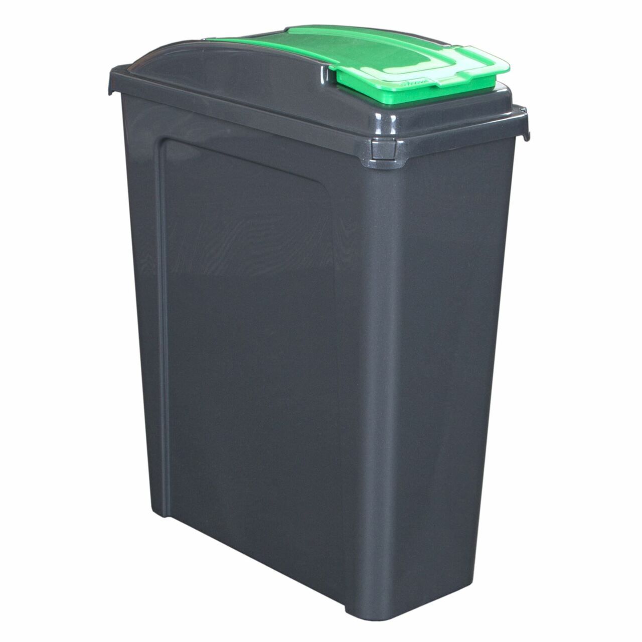 Wham 25 Litre Recycling / Pet Food Storage Bin - Green & Graphite, Pet Food Containers by Dog In A Box