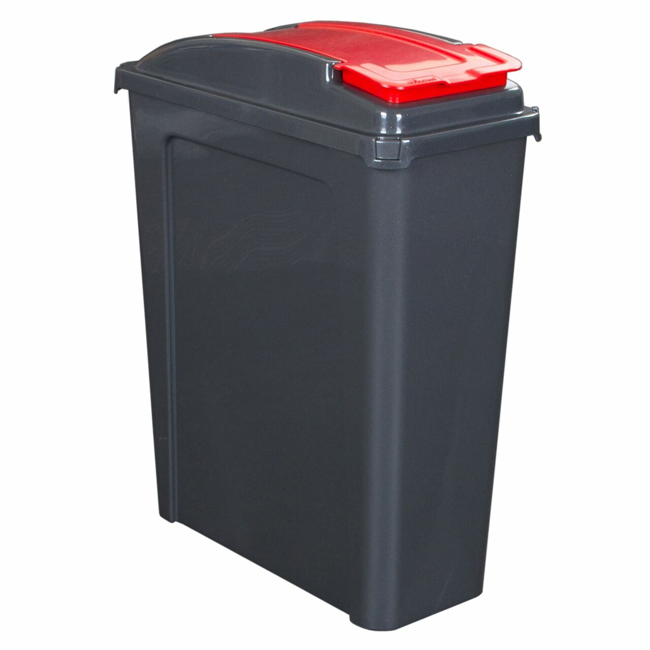 Wham 25 Litre Recycling / Pet Food Storage Bin - Red & Graphite, Pet Food Containers by Dog In A Box