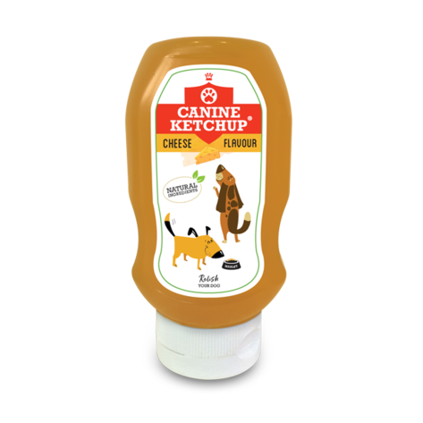 Canine Ketchup 425g - Cheese Flavour, Dog Supplies by Dog In A Box