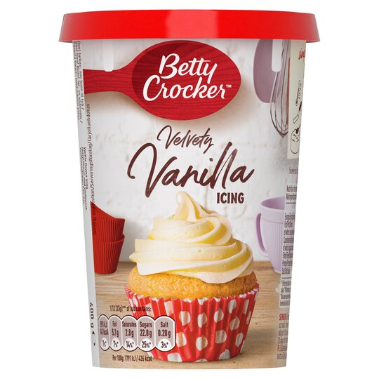 Betty Crocker Velvety Vanilla Icing Icing 400G, Food Items by Dog In A Box