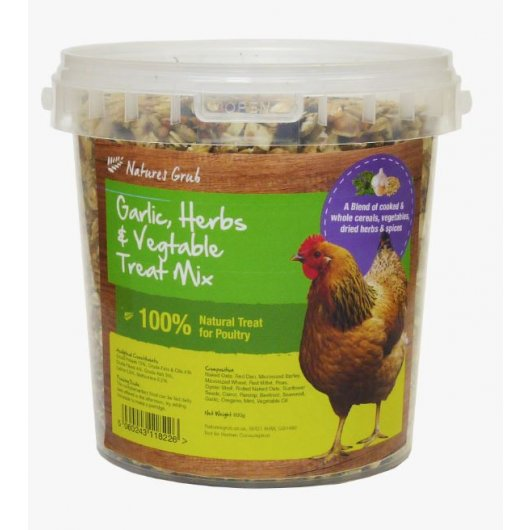 Natures Grub Garlic Herbs & Vegetable Treat Mix 1.2kg, Agriculture by Dog In A Box