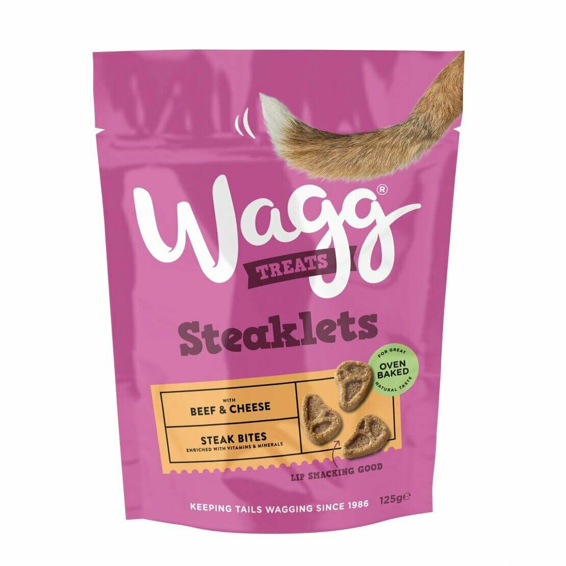Wagg Steaklets Treats 125g, Dog Supplies by Dog In A Box