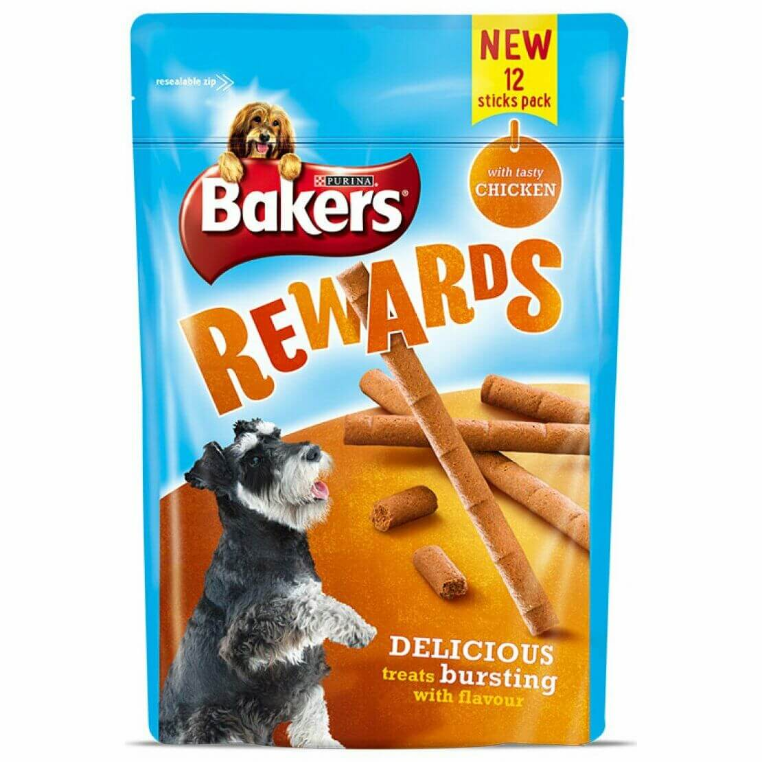 Bakers Rewards Treats Chicken 100g, Dog Treats by Dog In A Box
