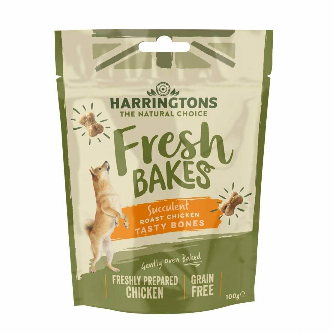 Harringtons Chicken Roll Treats 100g, Dog Supplies by Dog In A Box
