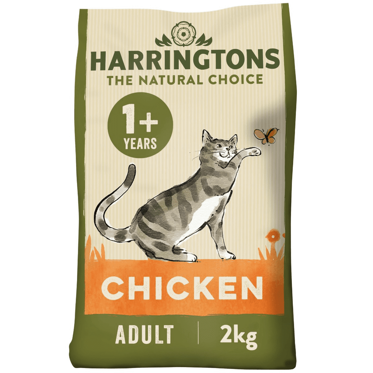 Harringtons Complete Adult Chicken Dry Cat food 2kg, Cat Food by Dog In A Box