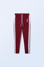 ARES SIDE TAPE STRETCH PANTS BORDEAUX
