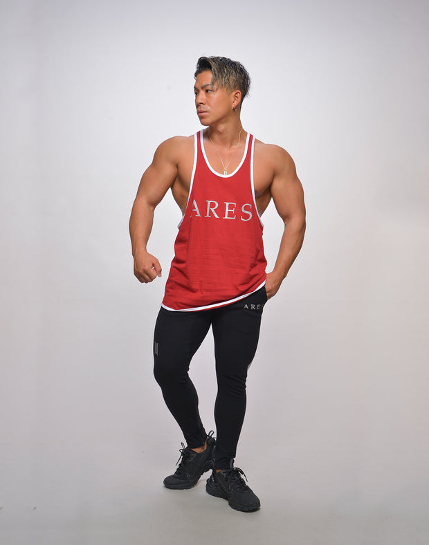 ARES. STRINGER TANKTOP RED