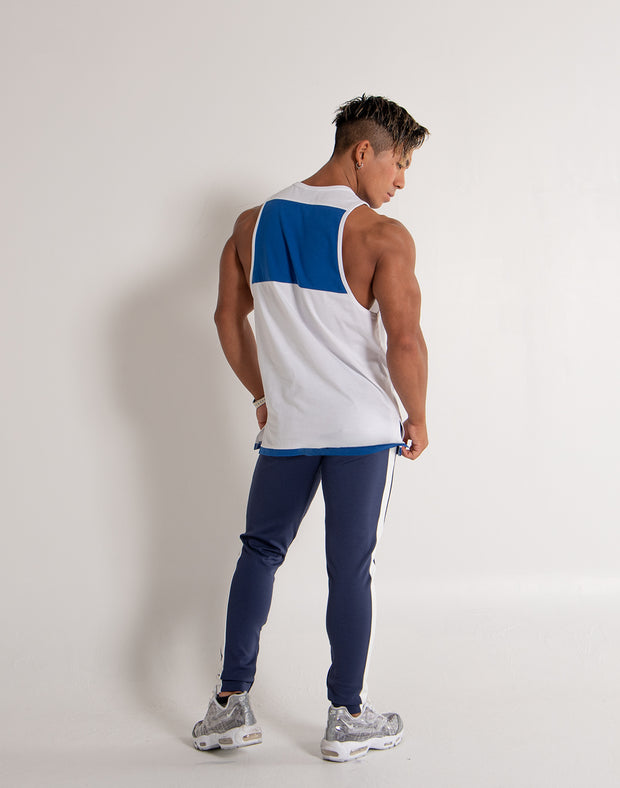 ARES  BI-COLOR TANKTOP NAVY