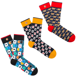 Box de 3 paires de chaussettes fantaisies – CASINO ROYAL