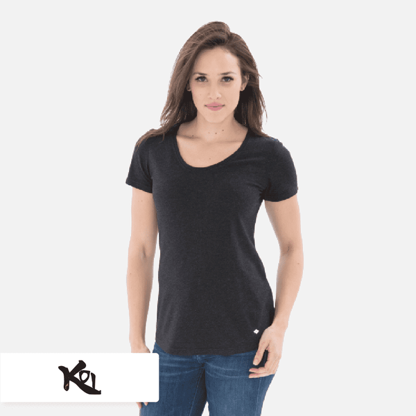 KOI® Triblend Scoop Neck Relaxed Ladies' Tee. KOI8036L