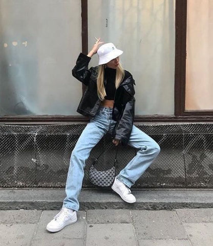 90s Style Bucket Hat Outfit