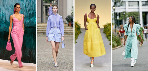 Spring/Summer 2021 Fashion Trends Bright Pastel Colours