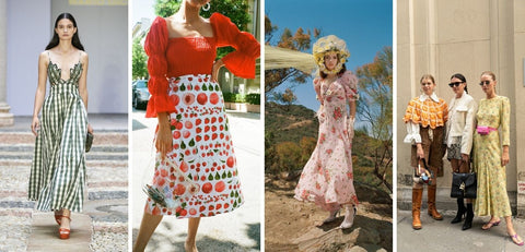 Spring/Summer 2021 Fashion Trends Cottagecore