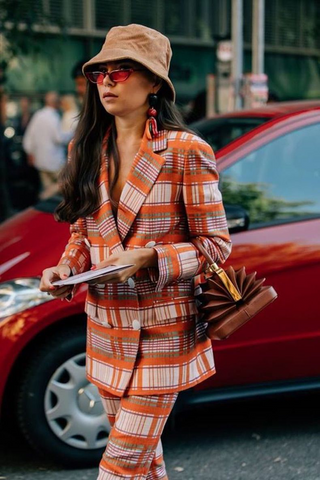 Tailored Chic Bucket Hat Outfit