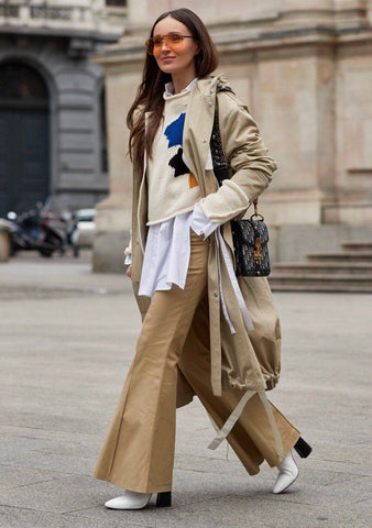 Go neutral or colourful for a simple layering look