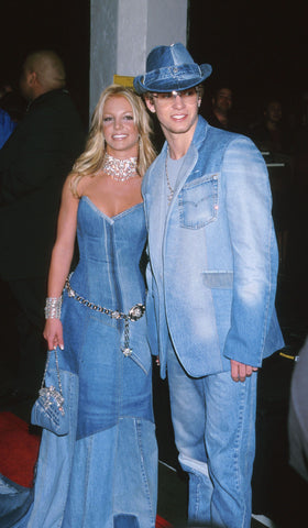 Justin Timberlake Britney Spears 2001 AMAs Double Denim Outfit