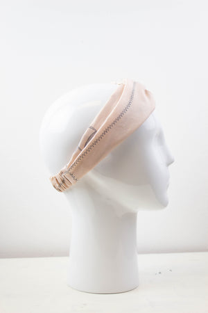 Cream Geomtric Fabric Knot Headband Studio Courtenay