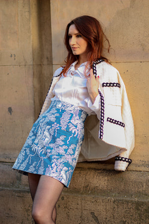 The Carey Skirt in Toile Print