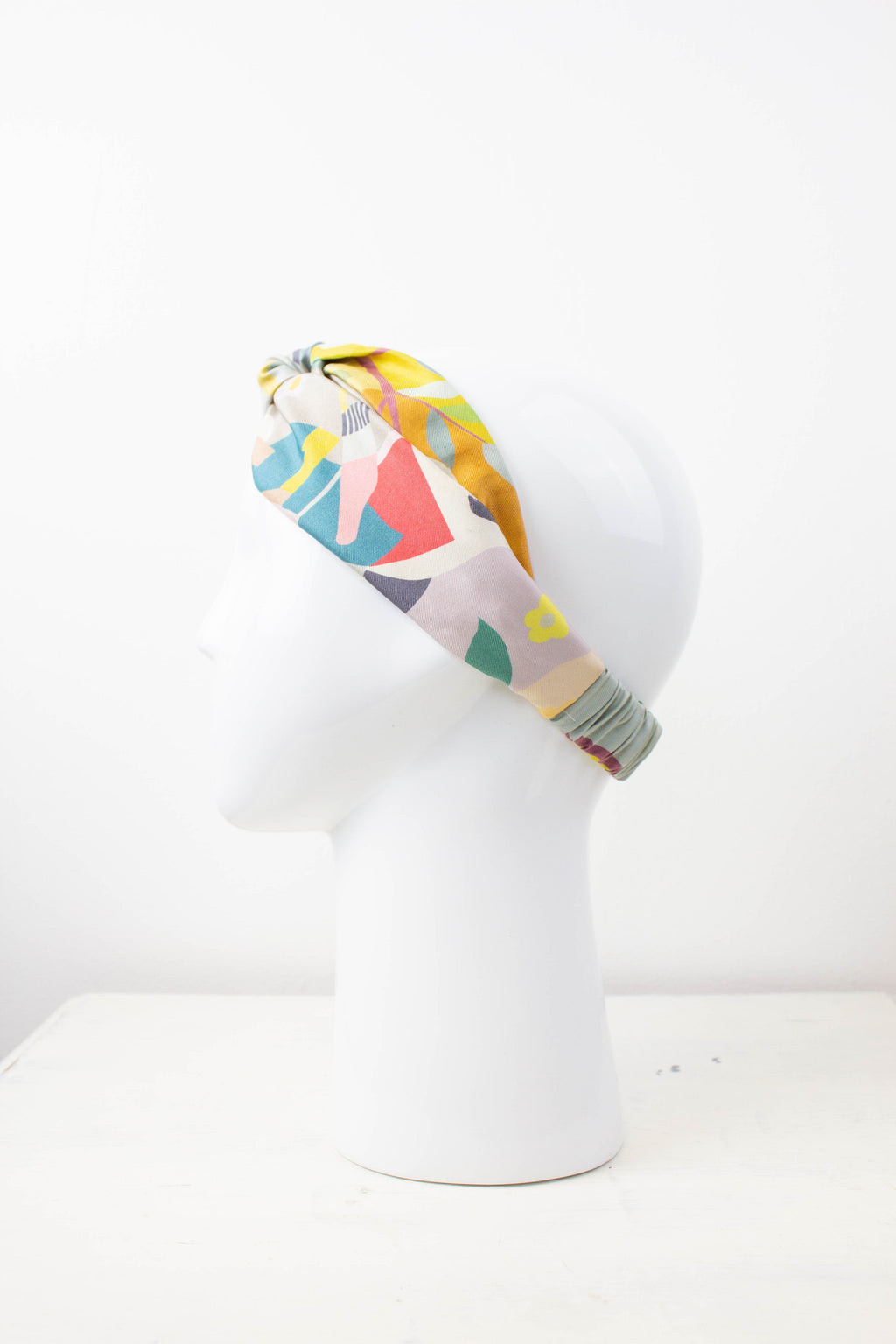 Vintage Colourful Silk Fabric Knot Headband