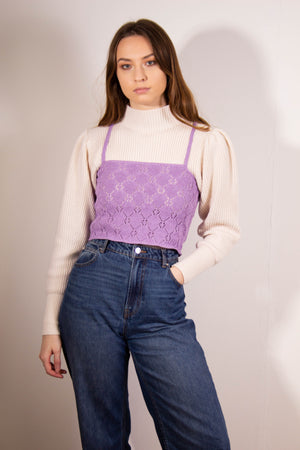 The Alicia Knitted Cropped Camisole