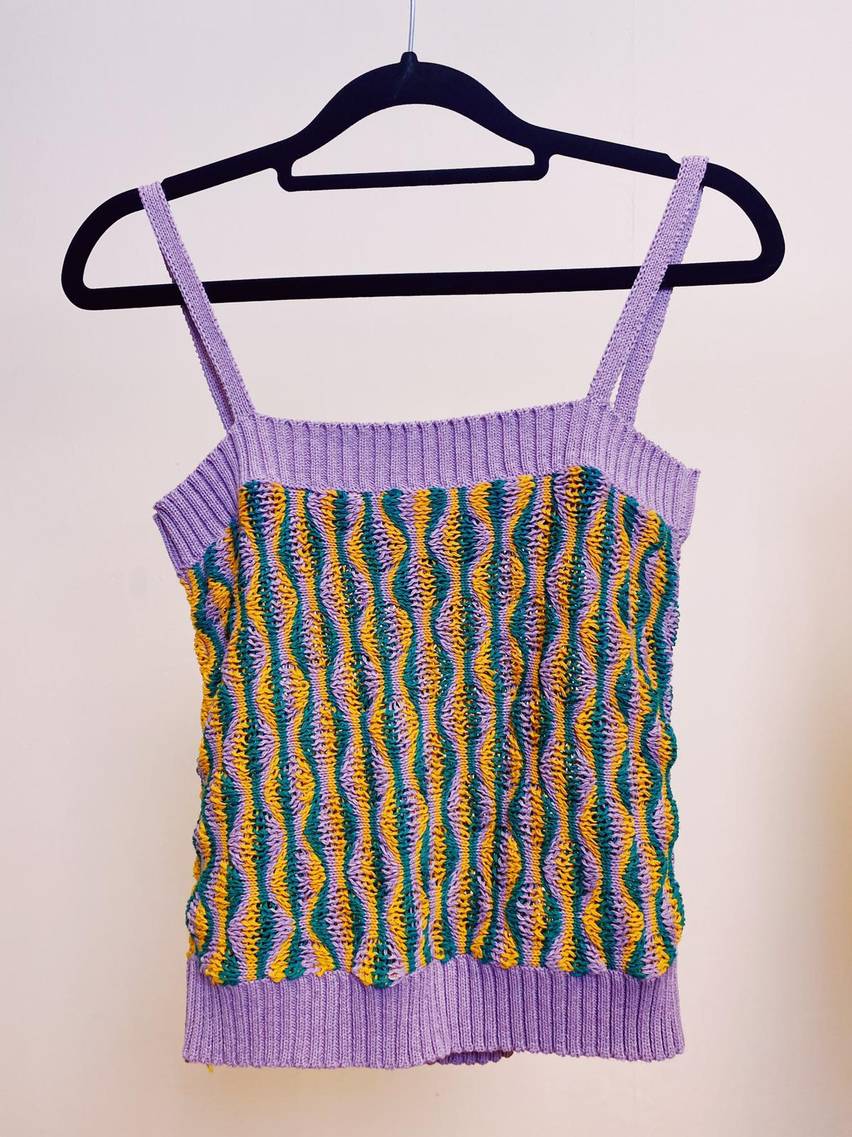 The Sophia Knitted Cropped Camisole Studio Courtenay