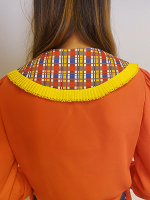 Bright Tartan Detachable Collar