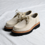 Alternate view of a pair of the Benni Shoe in Oatmeal by Good News London with a white background