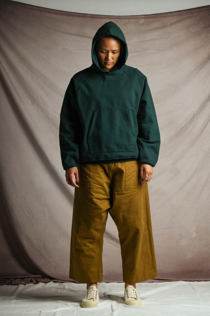 Wide Fit Trousers in Mustard