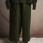 Close up of the Chunky Cotton Pocket Pants in Green by Mónica Cordera