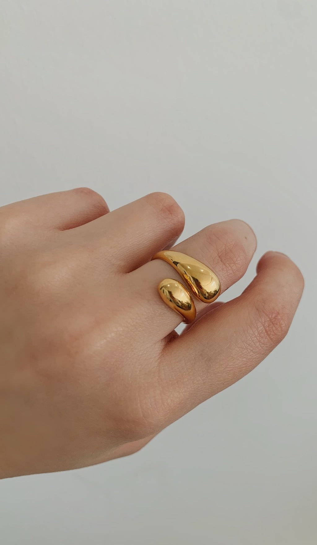 Gold Vermeil drop ring
