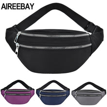 Load image into Gallery viewer, AIREEBAY 2020 New Fanny Pack For Women Waterproof  Waist Bags Ladies Fashion Bum Bag Travel Crossbody Chest Bags Unisex Hip Bag