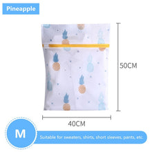 Load image into Gallery viewer, Pineapple Printing Zippered Mesh Laundry Bag Polyester Washing Net