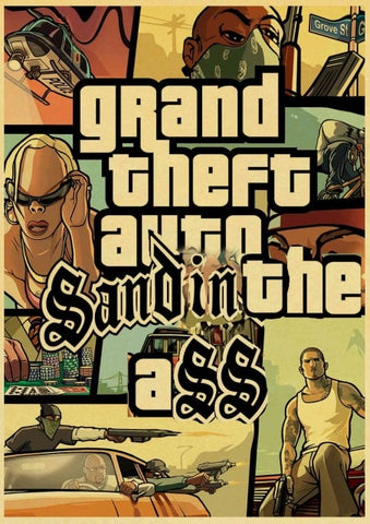 Poster GTA Sand in the Ass