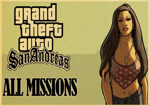 Poster GTA All Missions