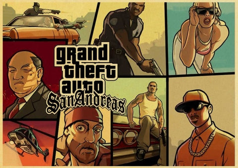 Poster GTA Affiche San Andreas