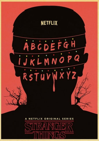 Poster Stranger Things Alphabet - 42X30cm