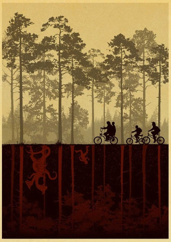 Poster Stranger Things Monde à l'envers