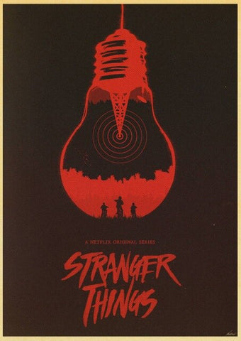 Poster Stranger Things Ampoule - 42X30cm