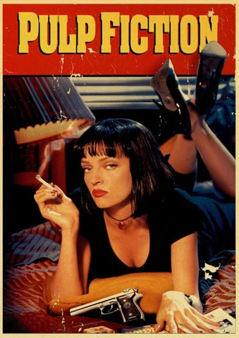 Poster Pulp Fiction Cover Mia Wallace