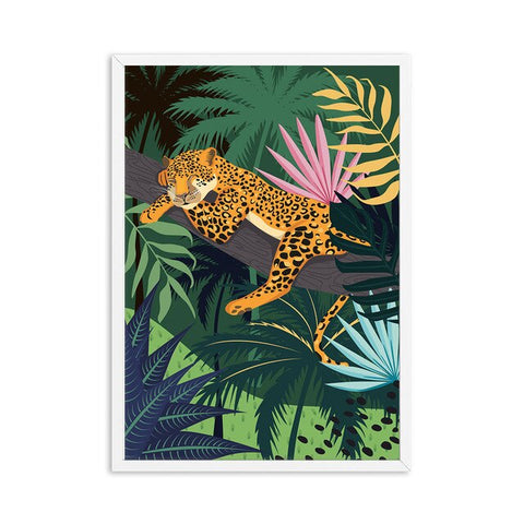 Poster dessiné Tigre dans la jungle - 21x30cm
