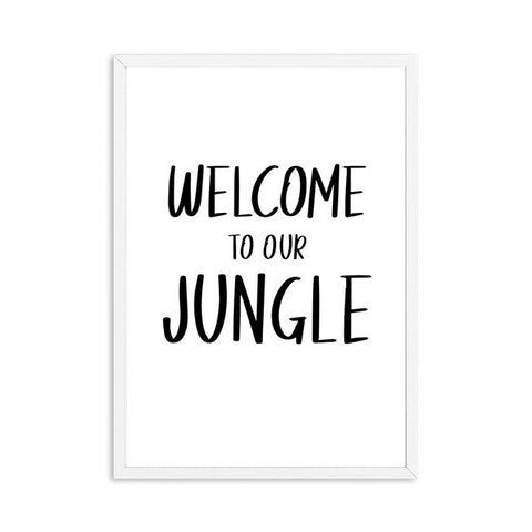Poster Welcome to our Jungle - 13x18cm