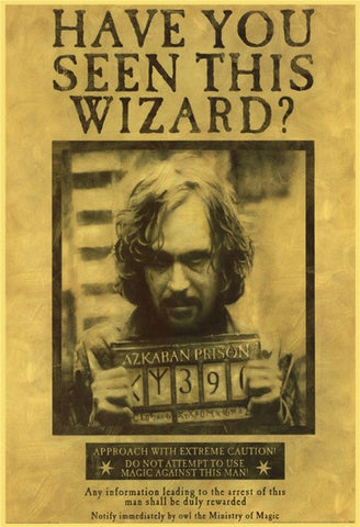 Poster Harry Potter Sirius Black Wanted - 21cmX30cm