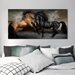 Poster Chevaux Duel
