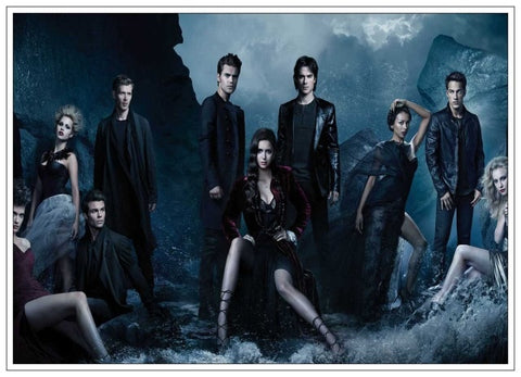 Poster Vampire Diaries Personnages