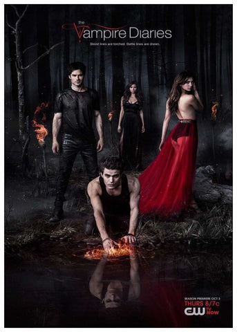 Poster Vampire Diaries Forêt Noire
