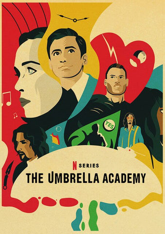 Poster Umbrella Academy Multicolore